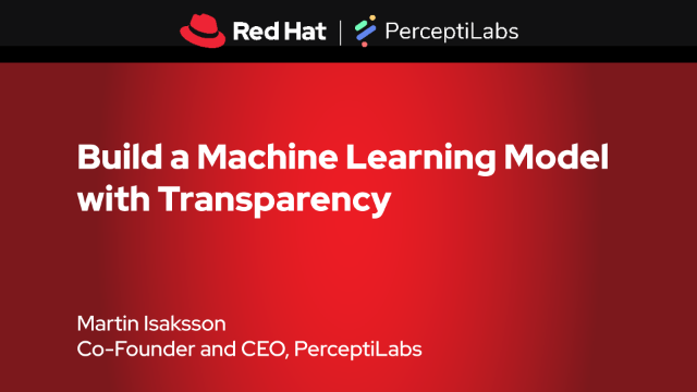 Join us at Red Hat's AI/ML: Smart apps, easy delivery, fast platform webinar series